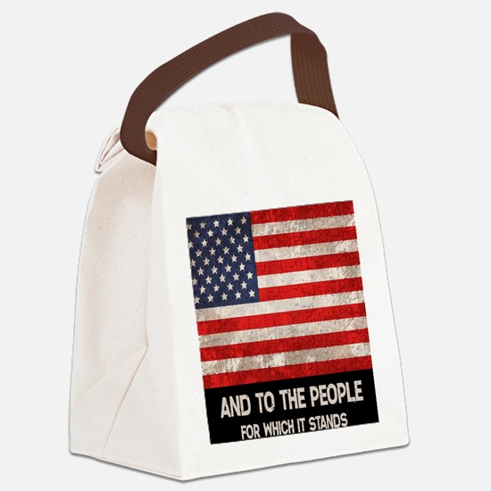people-stands-CRD Canvas Lunch Bag