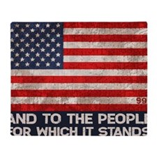 people-stands-LG Throw Blanket