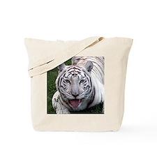 White Tiger Square Photo Tote Bag