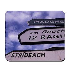 EUROPE, Ireland, Sligo Bi-ligual Sign Mousepad