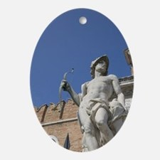 Venice. Statue in front of the Arsen Oval Ornament