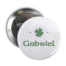 """Shamrock - Gabriel"" Button"
