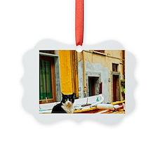 Cinque Terre. Village cat guards  Ornament
