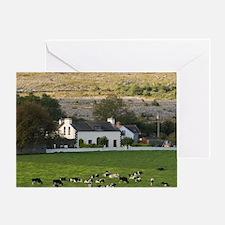 Farm, Ireland, Countryside, Cows, La Greeting Card