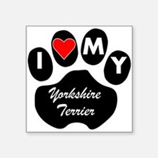 I Heart My Yorkshire Terrier Sticker