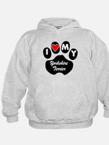 I Heart My Yorkshire Terrier Hoodie