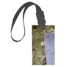 Medieval stone crarved headstone Luggage Tag