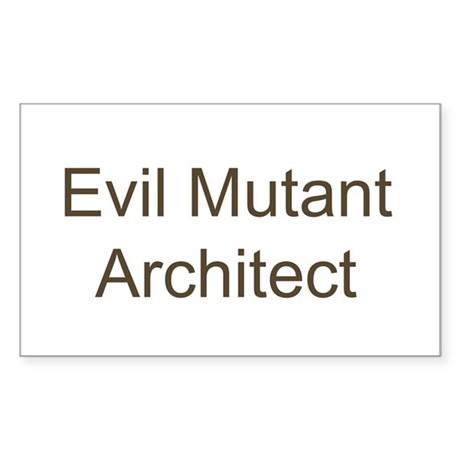 Evil Mutant Architect Rectangle Sticker