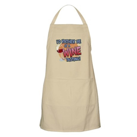Rather Be Wine Tasting BBQ Apron