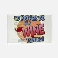 Rather Be Wine Tasting Rectangle Magnet