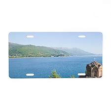 MACEDONIA, Ohrid. Sveti Jov Aluminum License Plate