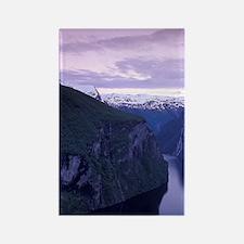 NORWAY Geirangerfjord at Dusk Rectangle Magnet