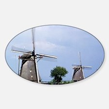 A line of stately windmills line th Decal
