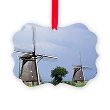 A line of stately windmills line  Ornament