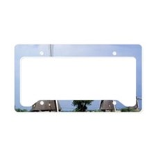 A line of stately windmills l License Plate Holder