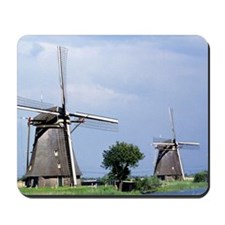 A line of stately windmills line the can Mousepad