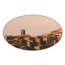Pitigliano. Town view in late after Decal