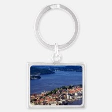 Norway, View of Bergen from Mou Landscape Keychain