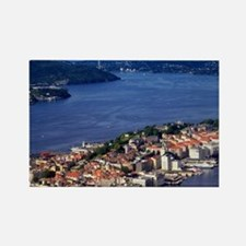Norway, View of Bergen from Mount Rectangle Magnet