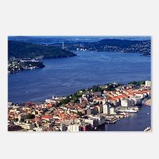 Norway, View of Bergen fr Postcards (Package of 8)