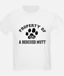 Property of a Rescued Mutt Kids T-Shirt