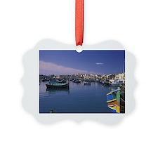 Malta, Marsaxlokk. Harbor, fishin Ornament