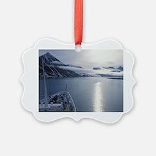 Norway, Svalbard. Vessel approach Ornament