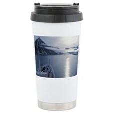 Norway, Svalbard. Vessel approa Travel Mug