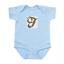 Phyllis Initial J Infant Creeper