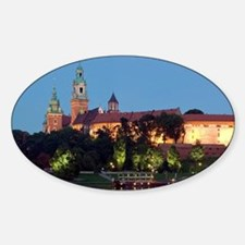 Wawel Hill with Royal Castle and Ca Sticker (Oval)