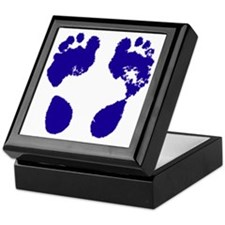 jennifer_footprint_blue Keepsake Box