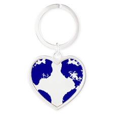 jennifer_footprint_blue Heart Keychain