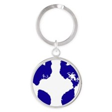 jennifer_footprint_blue Round Keychain