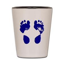 jennifer_footprint_blue Shot Glass
