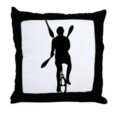 Unique Jugglers Throw Pillow