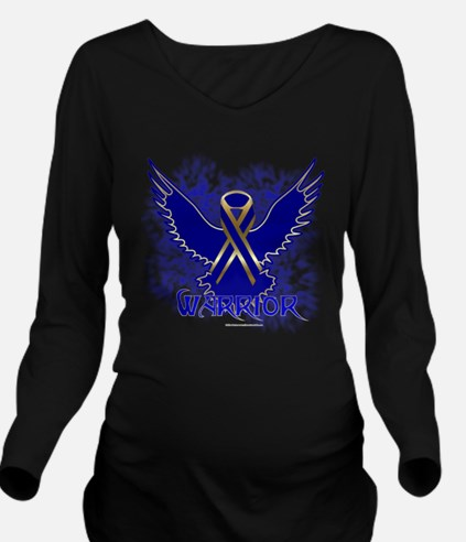 Colon Cancer Eagle Long Sleeve Maternity T-Shirt