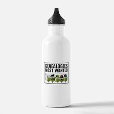 Genealogies Most Wanted Water Bottle