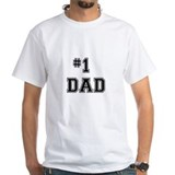 Number one dad Mens White T-shirts