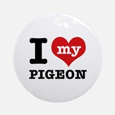 i love my Pigeon Ornament (Round)