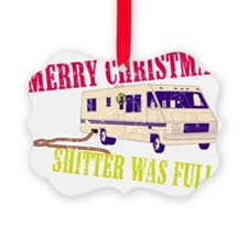 Shitter Was Full BLK Ornament