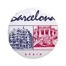 Barcelona_7x7_apparel_CasaMila_Parc Round Ornament