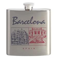 Barcelona_7x7_apparel_CasaMila_ParcGuell_Blu Flask
