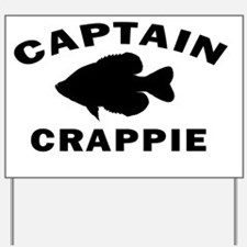 11x11 captain crappie centered Yard Sign