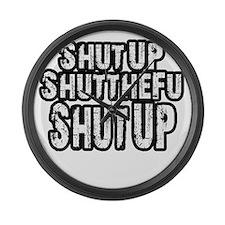 shutup Large Wall Clock