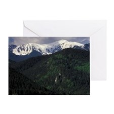 Zakopane Skip Chalets and Tatra Moun Greeting Card