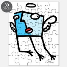 ange solo bleu Puzzle