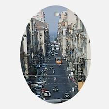 ITALY, Sicily, CATANIA: Via Antonino Oval Ornament