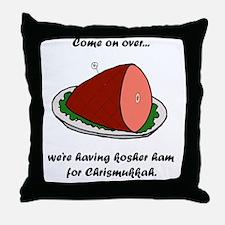 Kosher Ham Throw Pillow