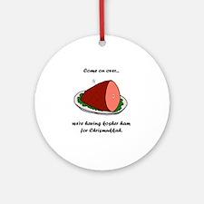Kosher Ham Round Ornament