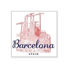 "Barcelona_7x7_LaSagradaFami Square Sticker 3"" x 3"""